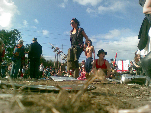 Glastonbury from the ground